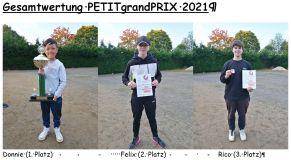 Gesamtwertung Wanderpokal PgP 2021 Treppchen